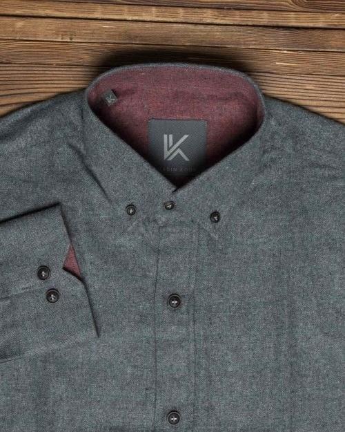پیراهن پشمی ساده مردانه اسپرت  