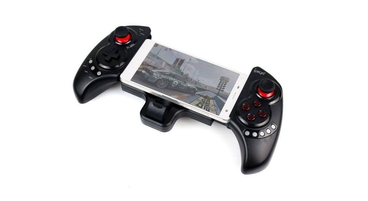 تصویر دسته بازی آی پگا مدل PG-9023 s مناسب برای گوشی موبایل ا Ipega 9023s PG vibration Joystick game gun Ipega 9023s PG vibration Joystick game gun