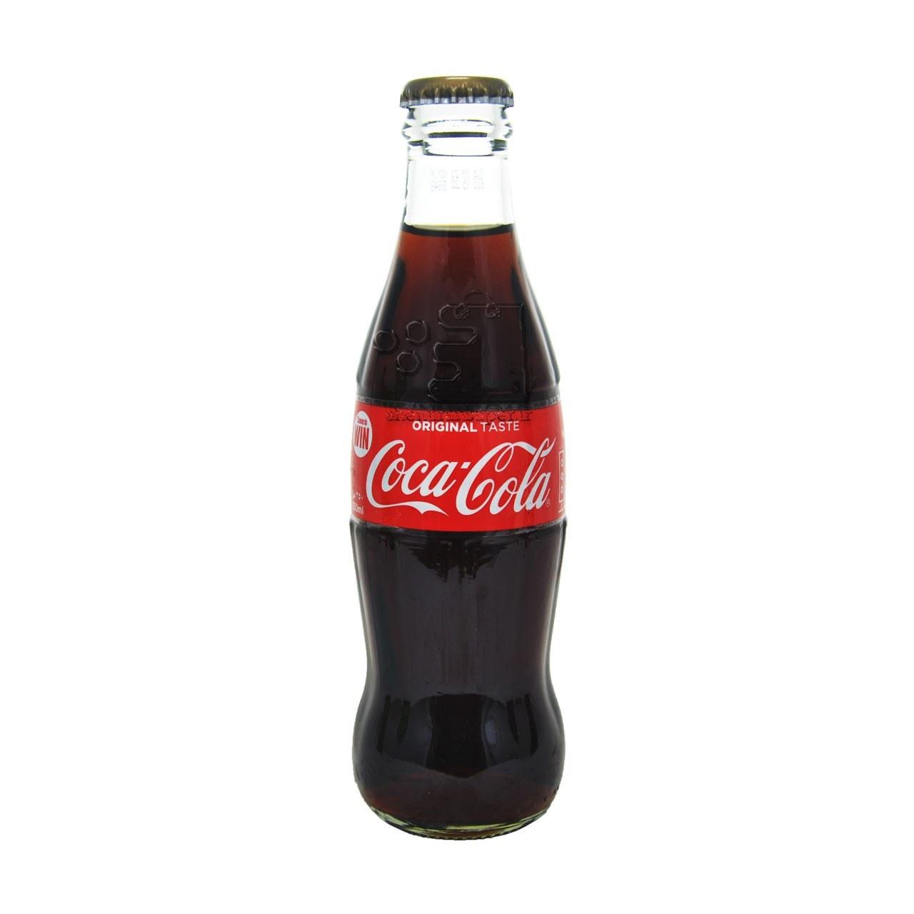 تصویر نوشابه شیشه ای ۲۵۰ میل کوکاکولا – Coca Cola