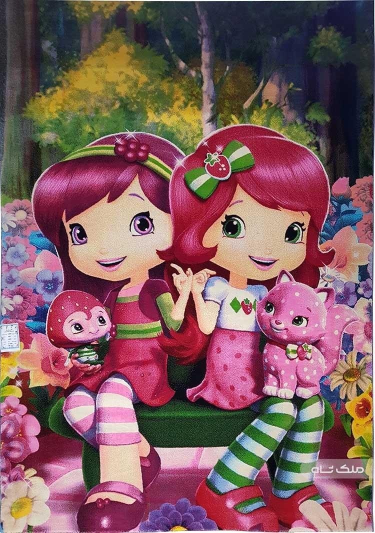 تصویر فرش طرح دختران توت فرنگی کد 1082