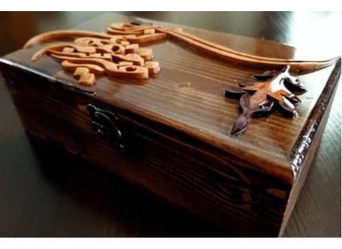 جعبه منبت و معرق تمام چوب کد ۰۰۸