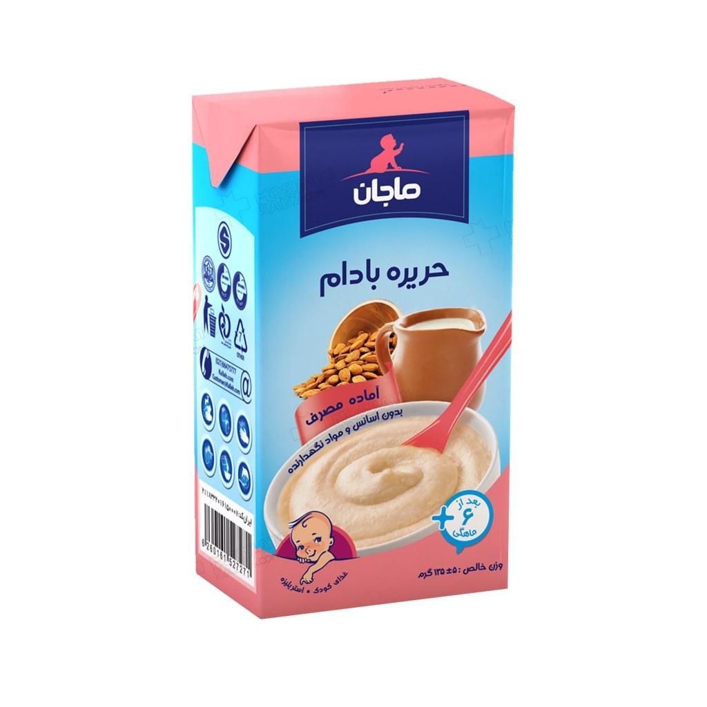 حریره بادام ماجان کاله مناسب کودکان بعد از 6 ماهگی 135 گرم   Kale Majan Almond Puree 135 g