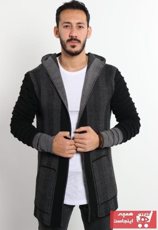 تصویر  ژاکت بافتی مردانه مدل 2021 برند Valiberta رنگ نقره ای کد ty83186102