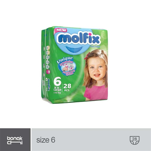 main images پوشک بچه سایز 6 مولفیکس - 28 عددی Molfix XXL Baby-Diaper Size 6 - 28 pcs