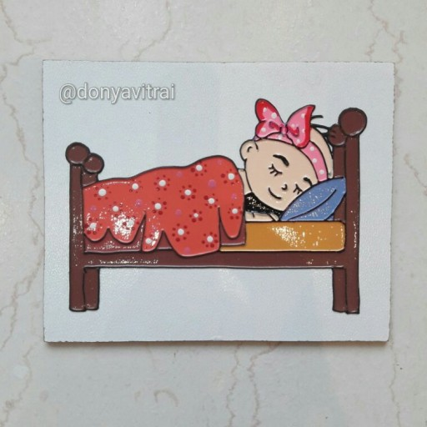 نشانگر اتاق خواب. نقاشی روی چوب |