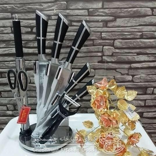 تصویر سرویس چاقو آشپزخانه 9 پارچه یونیک مدل 1070