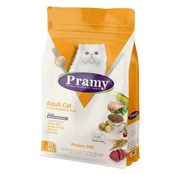 غذای خشک گربه پرامی مدل Adult وزن 10 کیلوگرم