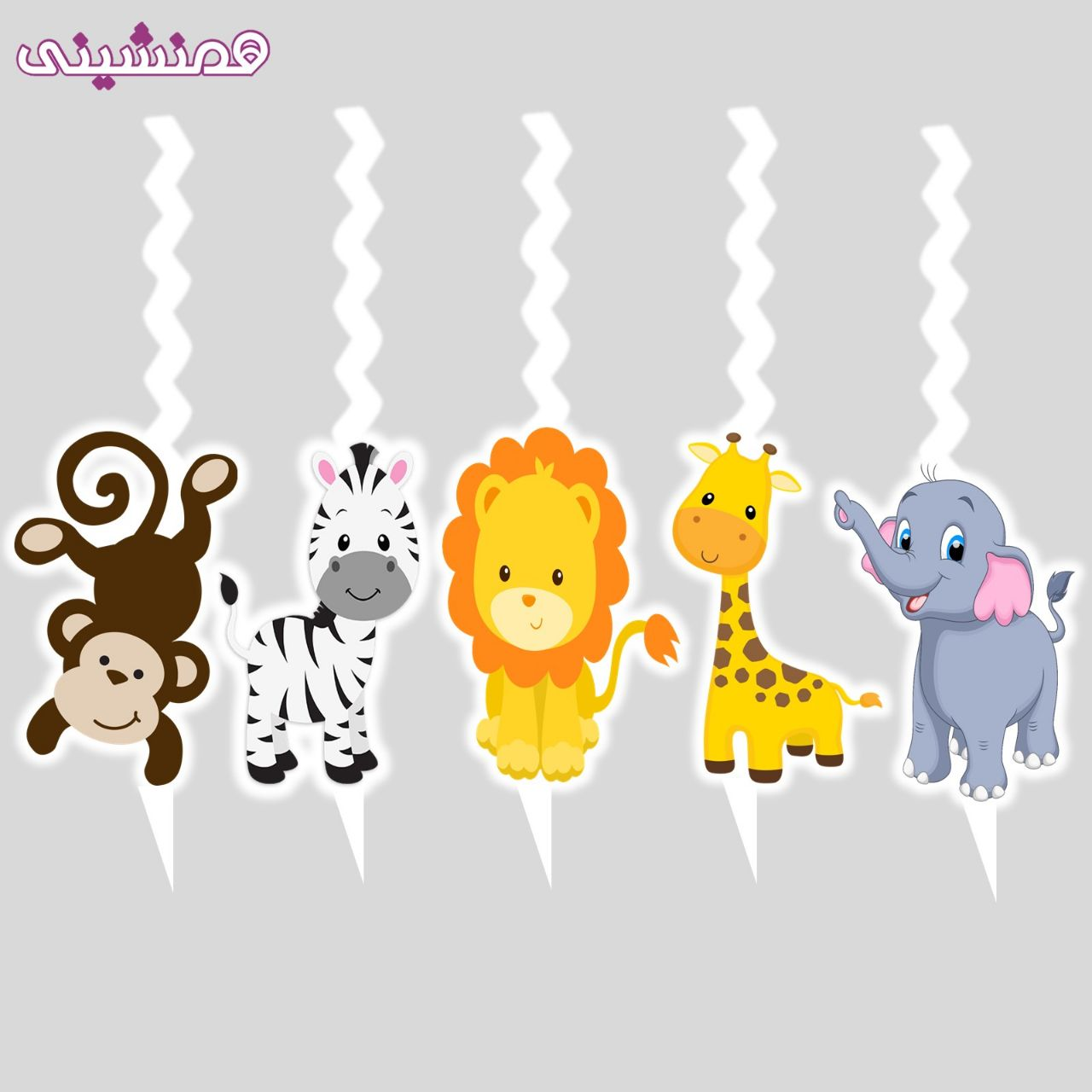 تصویر شمعهای زیبای شخصیت تم حیوانات جنگل طرح 01