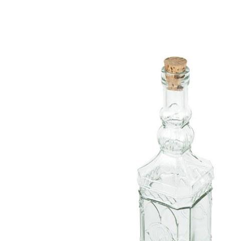 تصویر بطری آب 4 گوش درب چوب پنبه ای کوتاه 189200