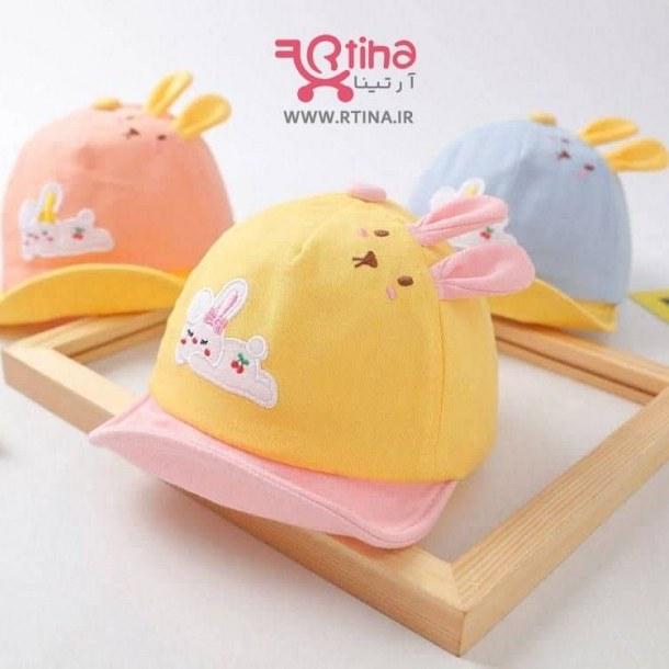 تصویر کلاه خرگوشی نوزادی مدل نقاب دار (دخترانه و پسرانه)