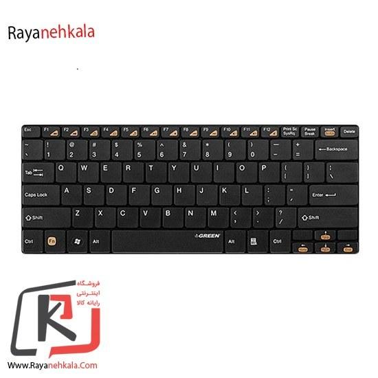 تصویر کیبورد کوچک گرین مدل GK-102W بیسیم Green GK-102W Wireless Compact Ultra Slim Keyboard