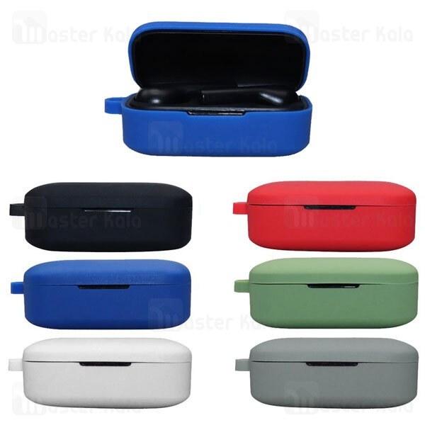 تصویر کاور محافظ سیلیکونی هندزفری کیو سی وای QCY T5 Earphone Silicone Case دارای قلاب آویز