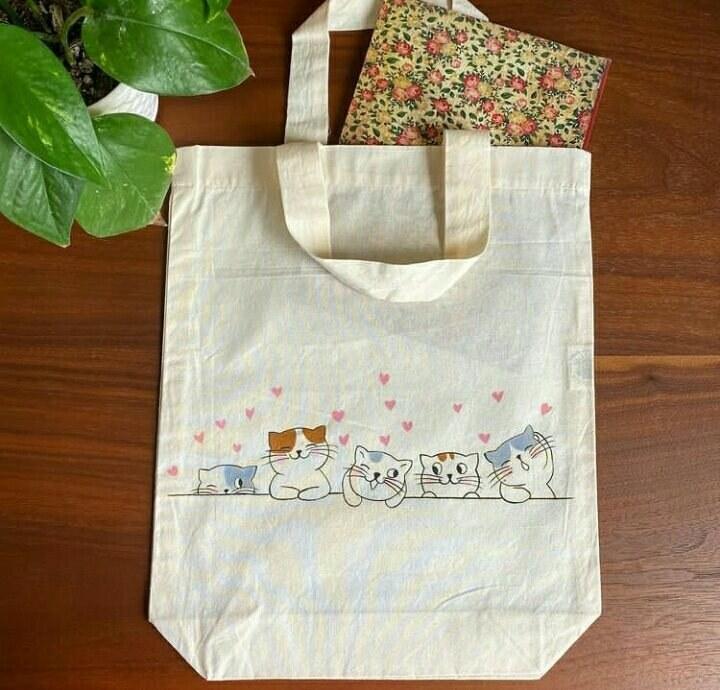 تصویر کیسه خرید طرح گربه کد 13183181267