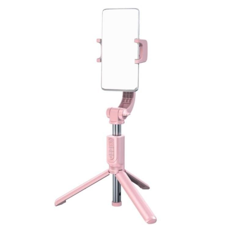 تصویر گیمبال موبایل بیسوس Baseus SULH-04 Bluetooth Folding Stand Selfie Stabilizer Pink