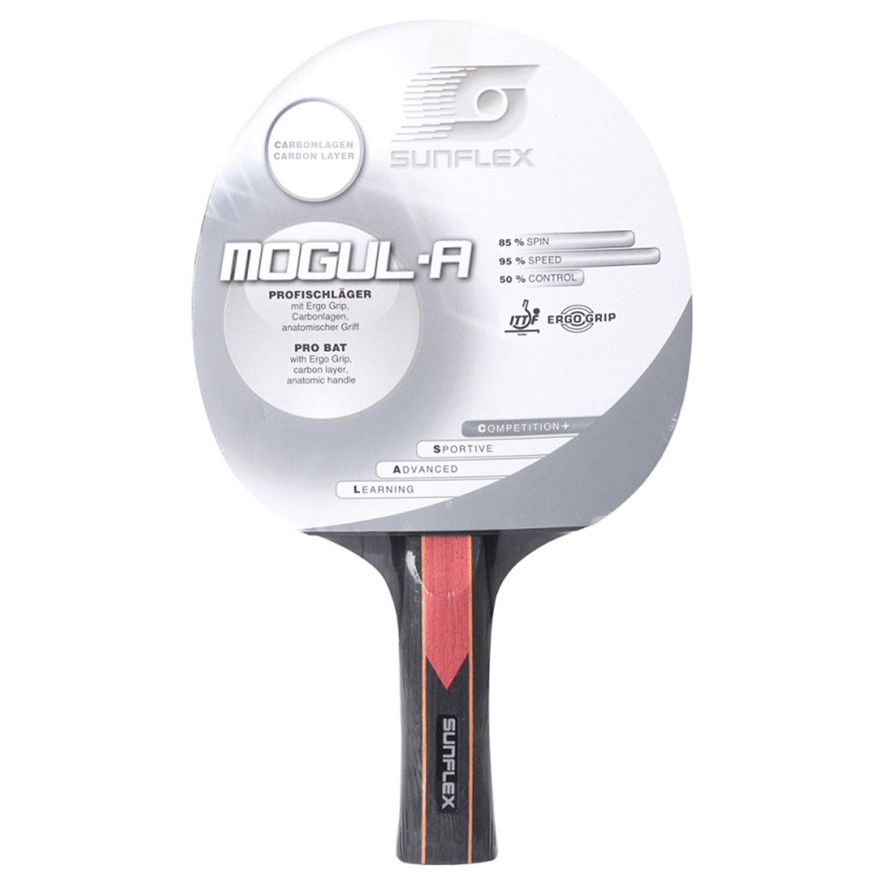 راکت پينگ پنگ سان فلکس مدل Mogul-A Level 1000 | Sunflex Mogul-A Level 1000 Ping Pong Racket