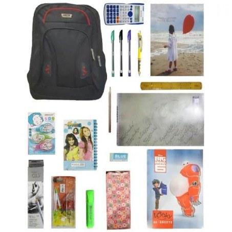 تصویر پکیج اقتصادی لوازم تحریر دخترانه کلاس 7 تا 12 Economical Package Girls Economical Stationery Package for Girls 7 to 12