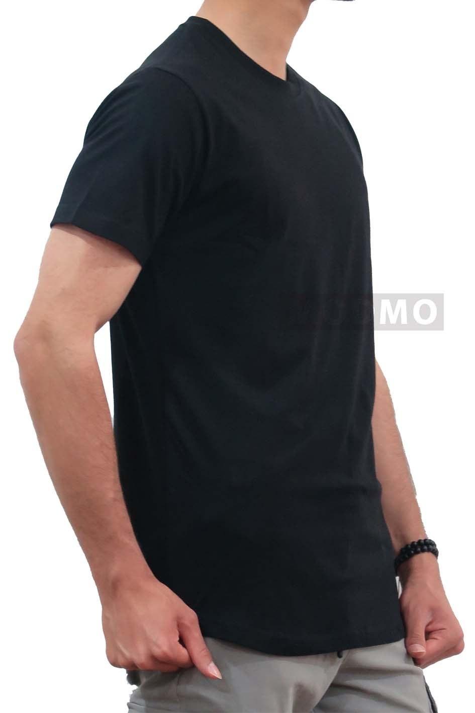 تصویر تیشرت مردانه ساده  مشکی 1027
