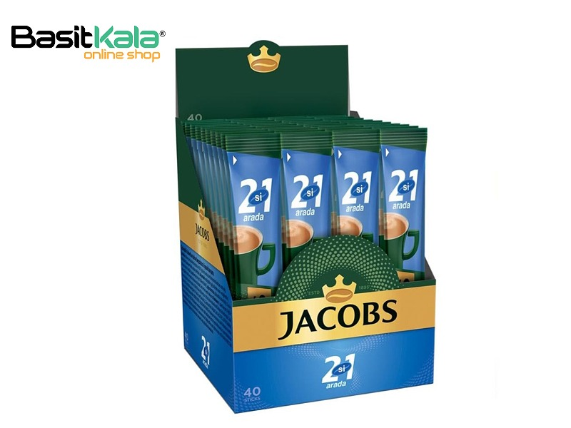 تصویر کافی میکس گلد 2×1 جاکوبز ۴۰ ساشه ای Jacobs