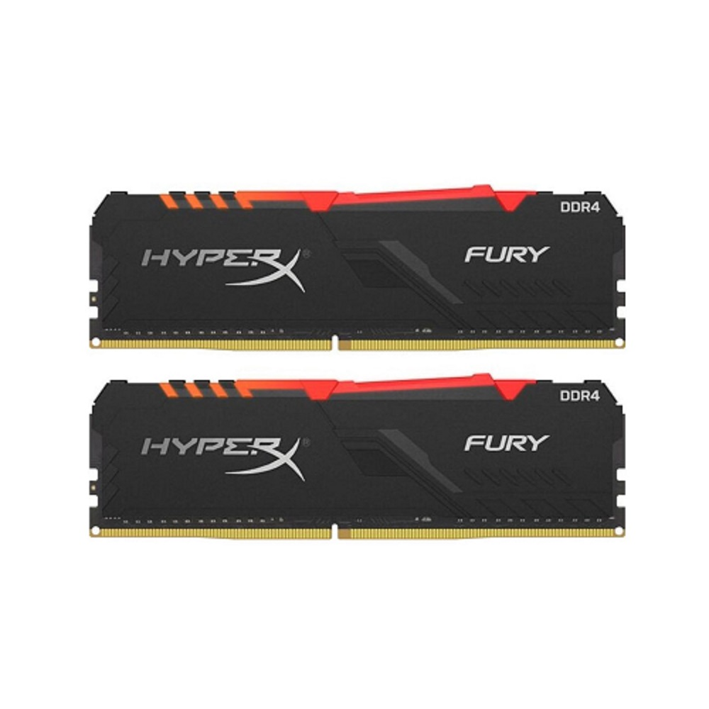 تصویر رم دسکتاپ کینگستون تک کاناله DDR4 فرکانس ۳۲۰۰ مگاهرتز مدل HyperX Fury RGB ظرفیت 8 گیگابایت Kingston HyperX Fury RGB 8GB Single Channel DDR4 ۳۲۰۰MHz RAM