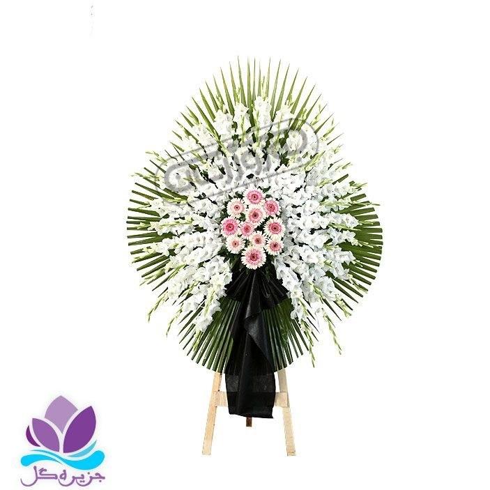 تصویر تاج گل ترحیم 1 طبقه 2متری جزیره گل