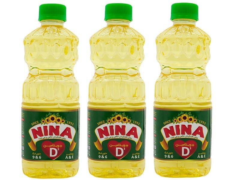 عکس روغن افتابگردان خالص و غنی شده ویتامین D3 نینا 810 گرم  روغن-افتابگردان-خالص-و-غنی-شده-ویتامین-d3-نینا-810-گرم