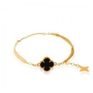 عکس دستبند طلا زنانه طرح ونکلیف کد CB397  دستبند-طلا-زنانه-طرح-ونکلیف-کد-cb397