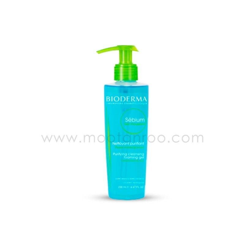 ژل شستشوی صورت Sebium Gel Moussant مناسب پوست چرب و مختلط بایودرما 200 میل | Bioderma Sebium Gel Moussant Face Washing Gel For Oily And Combination Skins 200ml