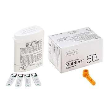 نوار تست قند خون آرکری مدل Glucocard-01 Sensor بسته 50 عددی | Arkray Glucocard-01 Sensor Test Strips pack of 50