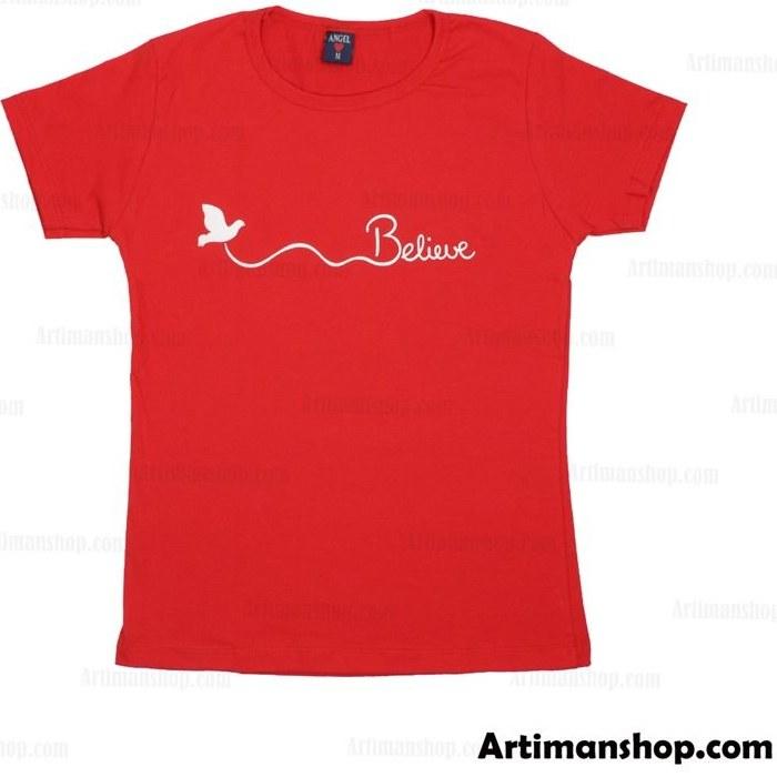 تصویر تی شرت تمام نخ ترک زنانه ANGEL کد BE-RE