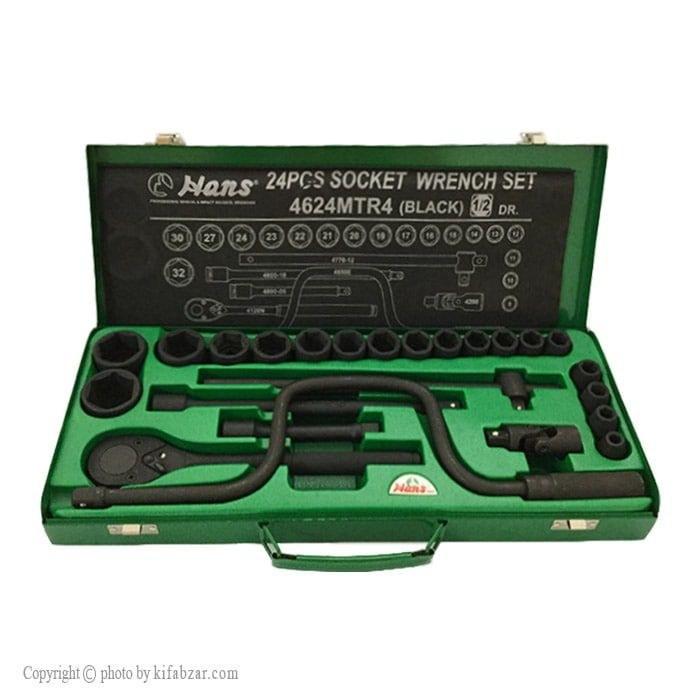 تصویر جعبه بکس 24 پارچه هنس مدل 4624MTR4 مشکی