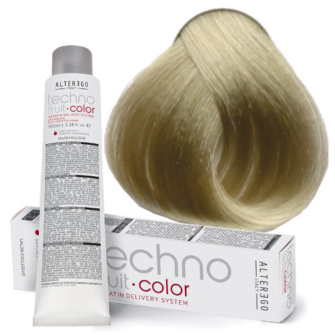 تصویر رنگ مو تکنو فروت سری رنگ بلوند alter ego techno fruit blonde hair coloring