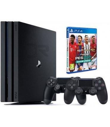 تصویر پلی استیشن 4 پرو ریجن 2 باندل دو دسته - Playstation 4 Pro Bundle Two Dualshock 4 PES2021