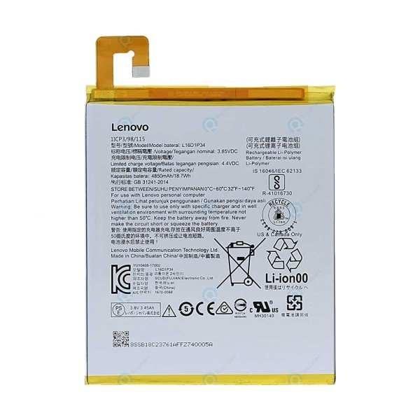 image مشخصات -  قیمت                      باتری تبلت مدل L16D1P34 ظرفیت 4850 میلی آمپر ساعت مناسب برای تبلت لنوو  tab4 8             غیر اصل