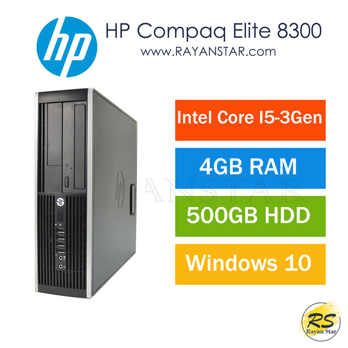 تصویر مینی کیس HP Compaq Elite 8300 Core i5 HP 8300 Elite SFF Desktop Computer