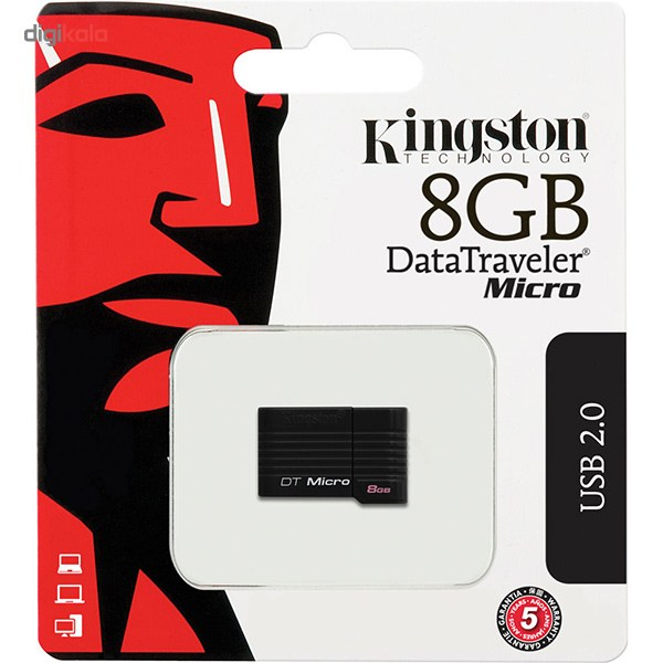 img فلش مموری کینگستون مدل DTMCK ظرفیت 8 گیگابایت Kingston DTMCK Flash Memory - 8GB
