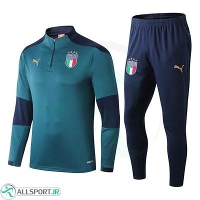 ست نیم زیپ شلوار ایتالیا آبی ItalieTraining Tracksuit 2020