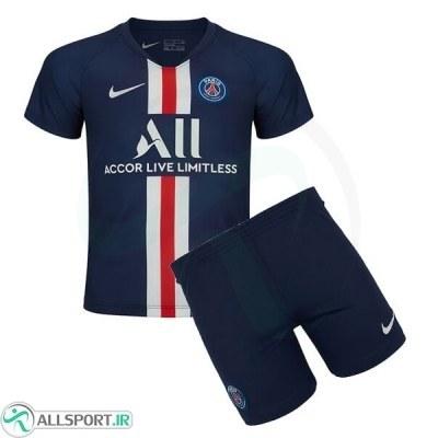 پیراهن شورت اول پاریسن ژرمن Paris Saint Germain 2019-20 Home Soccer Jersey Kit Shirt+Short