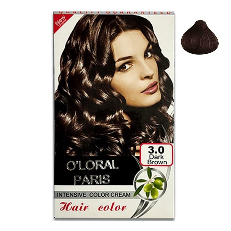 رنگ مو اولورال پاریس O'LORAL PARIS قهوه ای تیره شماره ۳٫۰