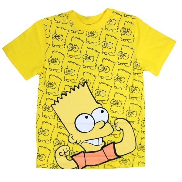 تی شرت پسرانه آستین کوتاه تاپ کیدز طرح مگی رنگ زرد