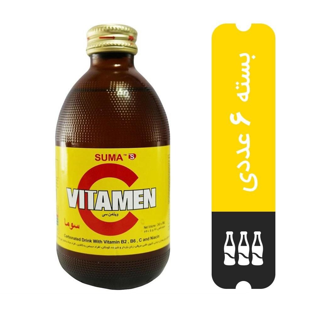 تصویر بسته ۶ عددی نوشیدنی انرژی زا ویتامین سی 240 میلی لیتری -