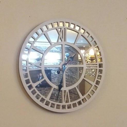 ساعت دیواری آینه ای