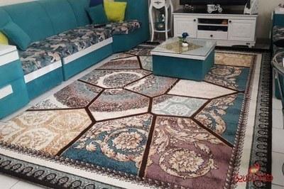 فرش ماشینی ساوین طرح رکسانا قهوه ای 6و9متری |