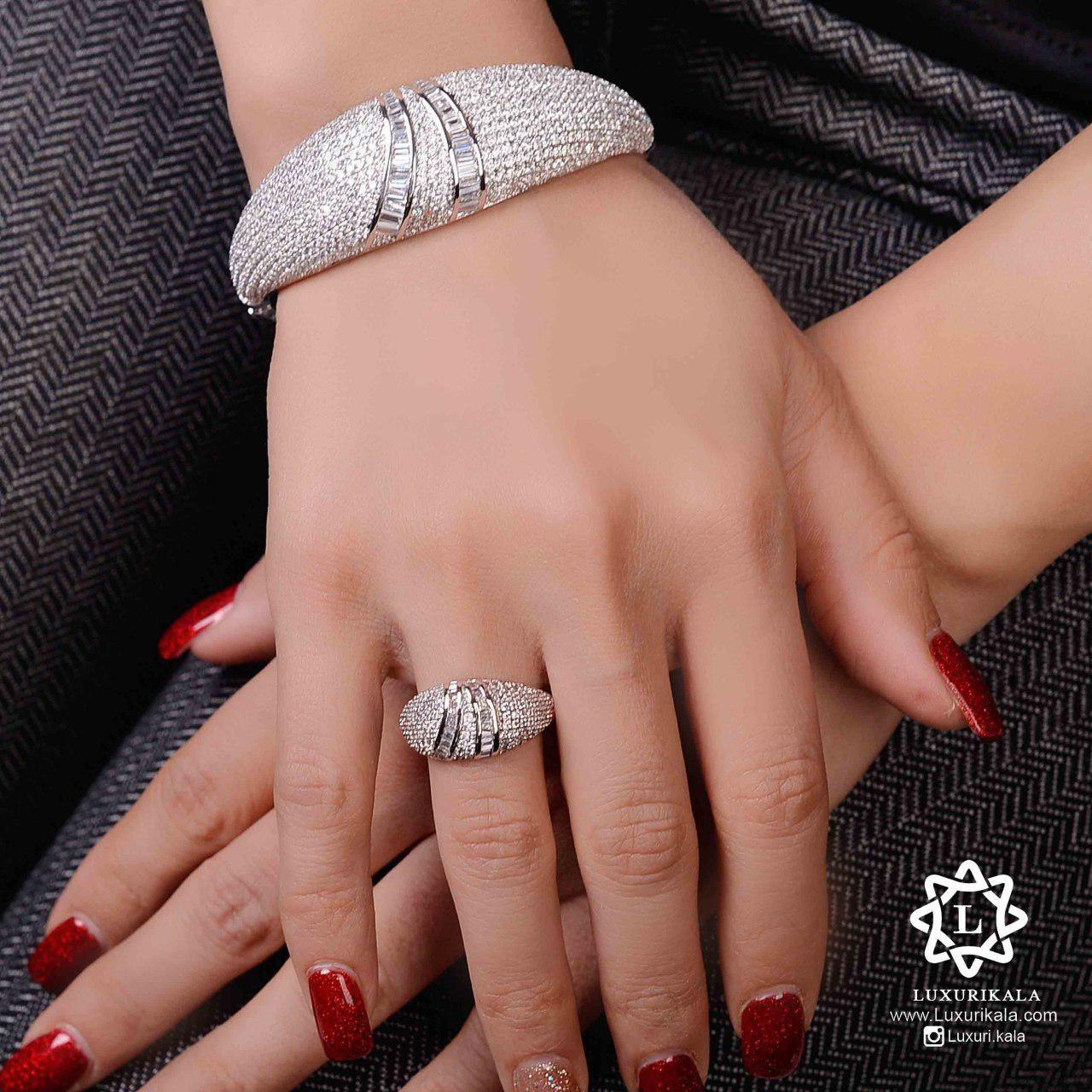 تصویر ست دستبند و انگشتر