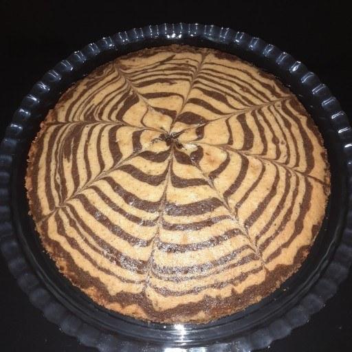 کیک زبرا خانگی ( یک کیلویی ) |