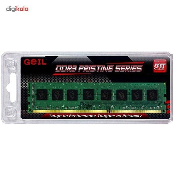 تصویر رم دسکتاپ DDR3 تک کاناله 1600 مگاهرتز CL11 گیل مدل Pristine ظرفیت 4 گیگابایت Geil Pristine DDR3 1600MHz CL11 Single Channel Desktop RAM - 4GB