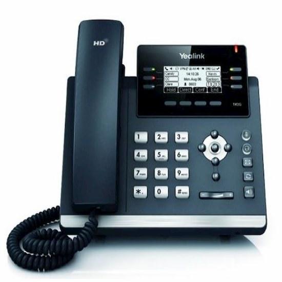 تصویر تلفن IP یالینک مدل T42G yealink-t42g-ip-phone