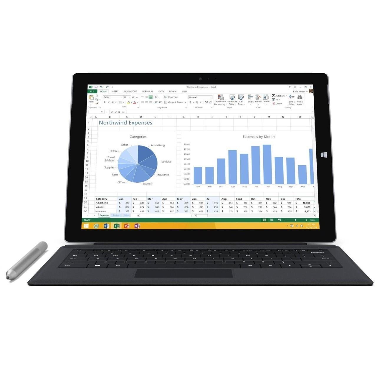 عکس تبلت مايکروسافت مدل Surface Pro 3 - A به همراه کيبورد ظرفيت 256 گيگابايت Microsoft Surface Pro 3 with Keyboard - A - 256GB Tablet تبلت-مایکروسافت-مدل-surface-pro-3-a-به-همراه-کیبورد-ظرفیت-256-گیگابایت 0