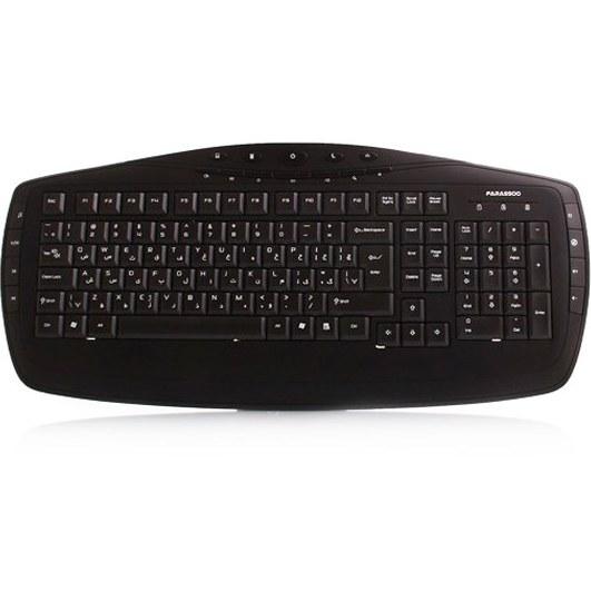 تصویر کیبورد فراسو FCR-6160 USB با حروف فارسی|مشکی Farassoo FCR-6160 USB Keyboard With Persian Letters