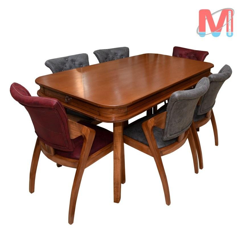 عکس میز ناهار خوری 6 نفره  میز-ناهار-خوری-6-نفره