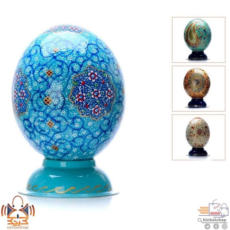 تصویر تخم شتر مرغ تزئینی painting ostrich egg
